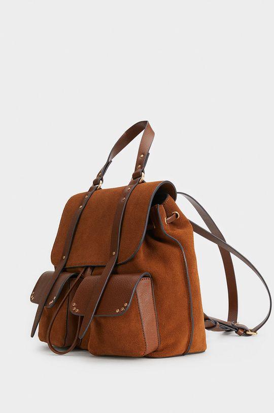 žlutá Parfois - Kožený batoh