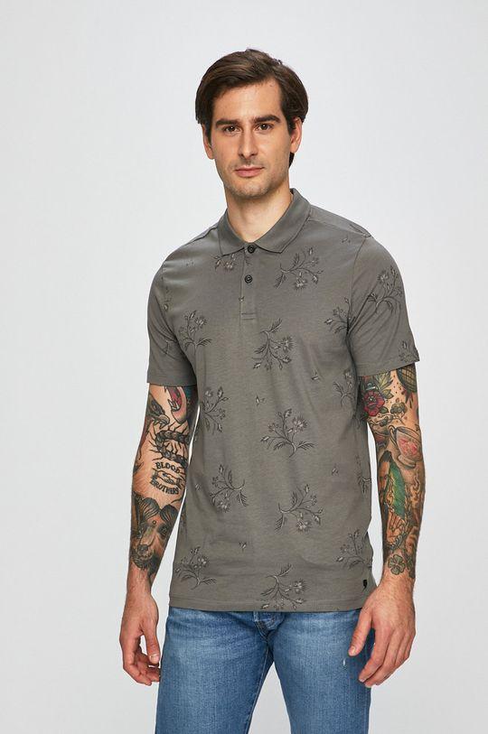 šedá Premium by Jack&Jones - Polo tričko Pánský