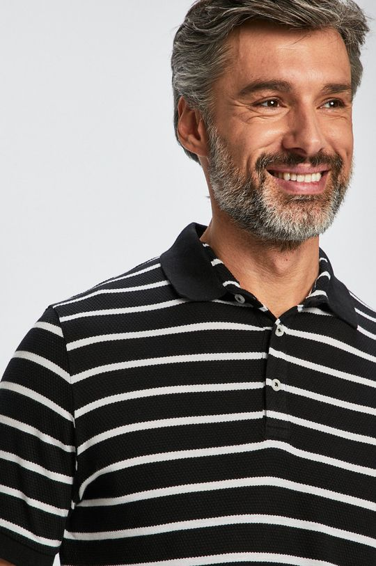 negru Casual Friday - Tricou Polo De bărbați