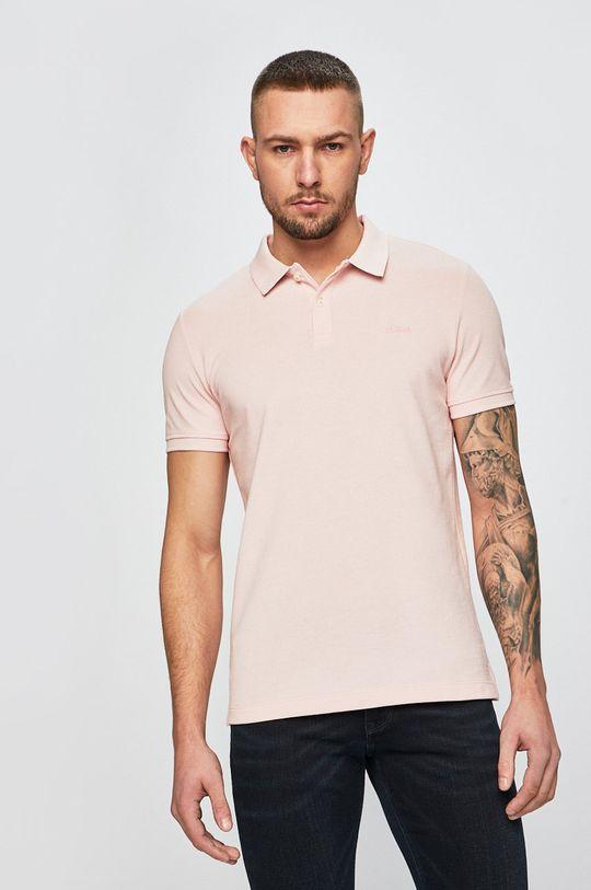 ružovo-červená s. Oliver - Pánske polo tričko Pánsky