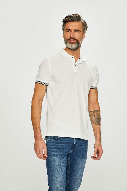 biela Tommy Hilfiger - Pánske polo tričko Pánsky