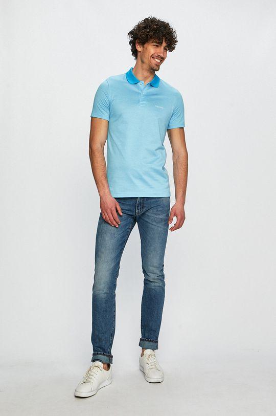 světle modrá Calvin Klein - Polo tričko Pánský
