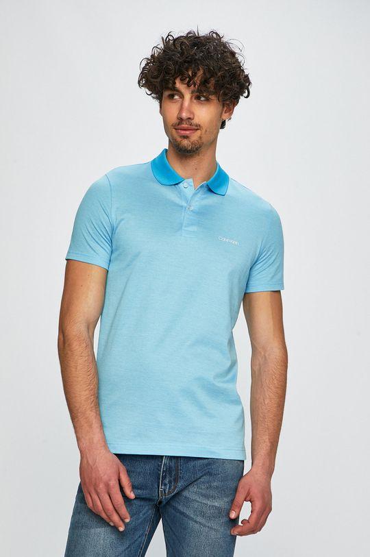 Calvin Klein - Polo tričko světle modrá