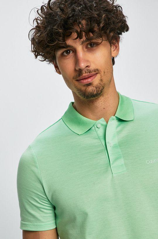 světle zelená Calvin Klein - Polo tričko