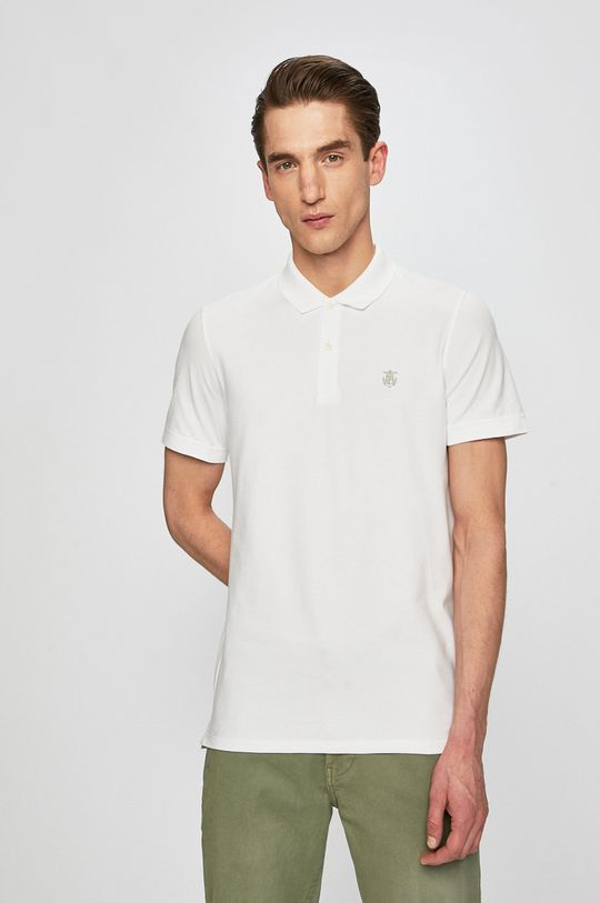 biela Selected - Pánske polo tričko Pánsky