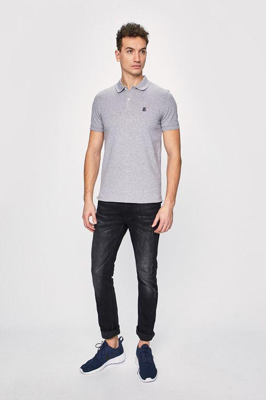 Selected - Polo tričko šedá