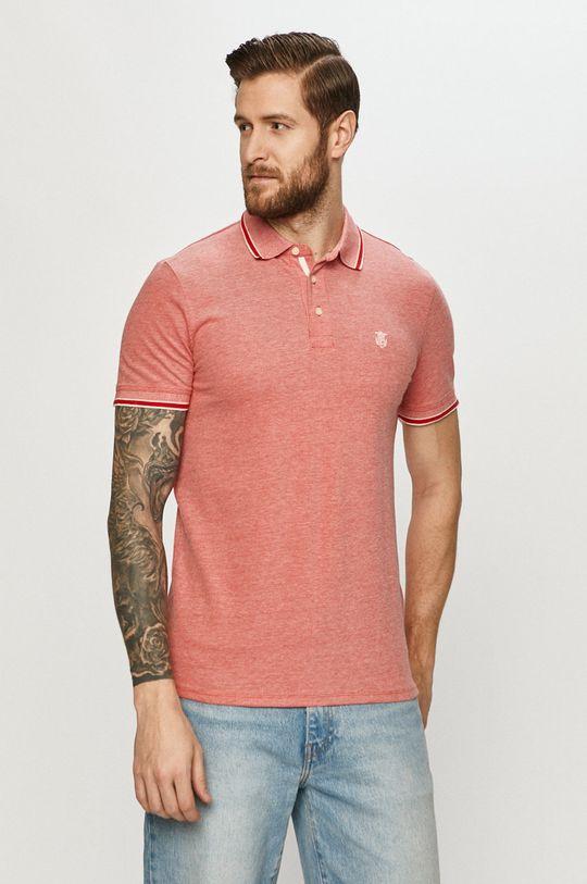 ostrá červená Selected - Polo tričko Pánský