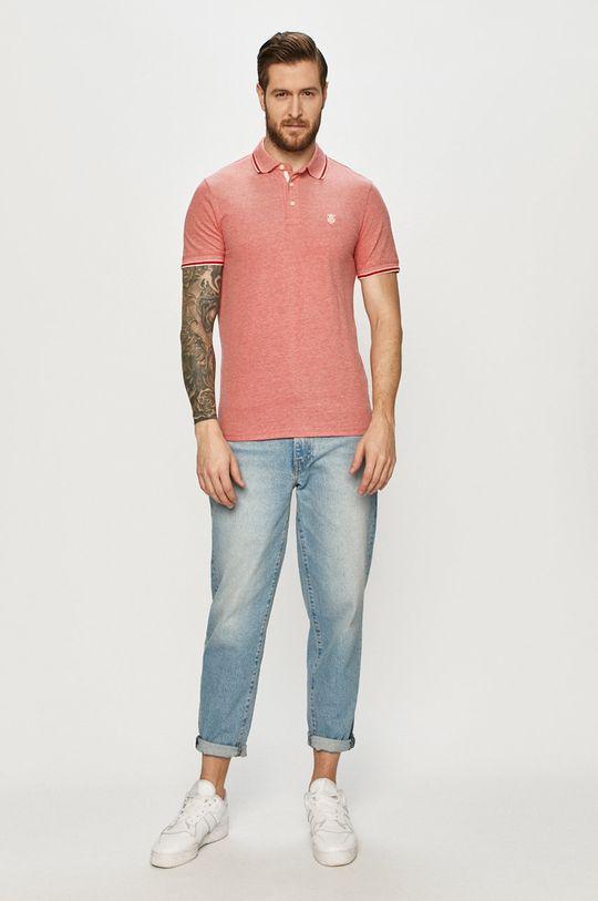 Selected - Polo tričko ostrá červená
