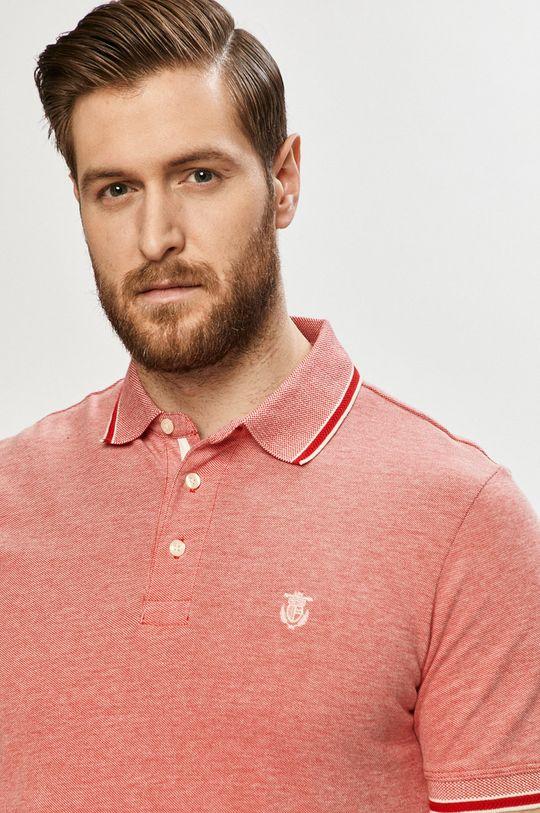 ostrá červená Selected - Polo tričko