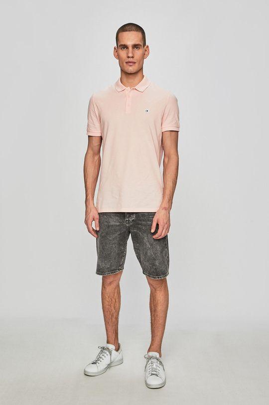 Calvin Klein Jeans - Polo tričko pastelově růžová