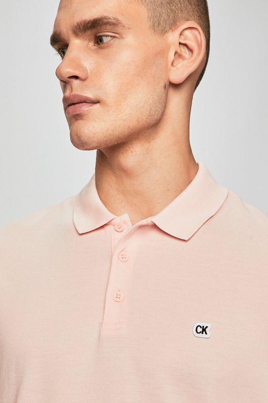 pastelově růžová Calvin Klein Jeans - Polo tričko