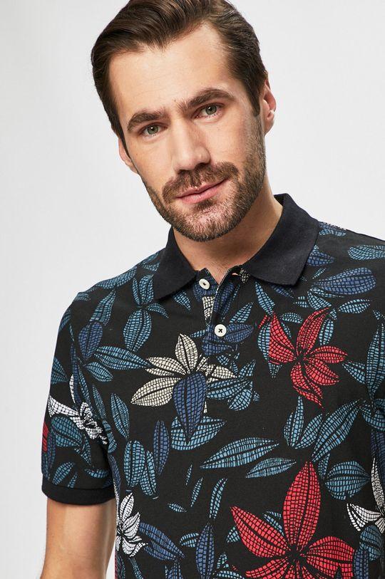 Produkt by Jack & Jones - Pánske polo tričko čierna