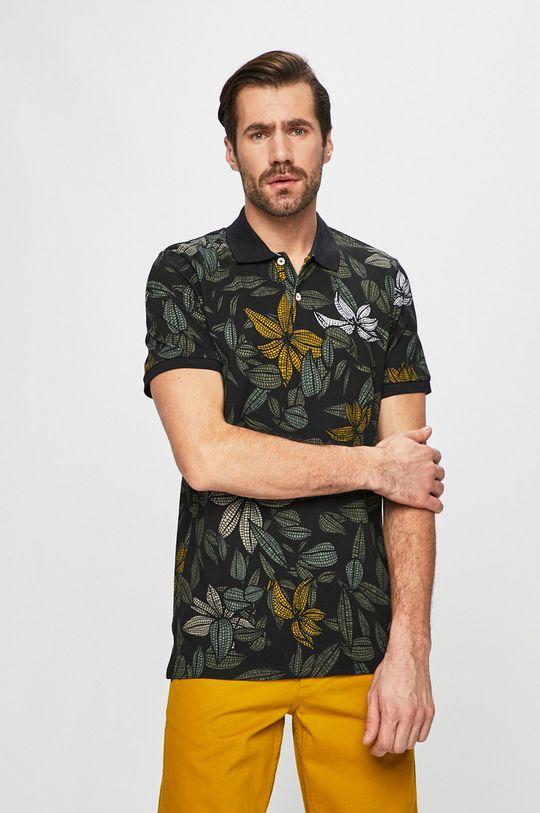 čierna Produkt by Jack & Jones - Pánske polo tričko Pánsky