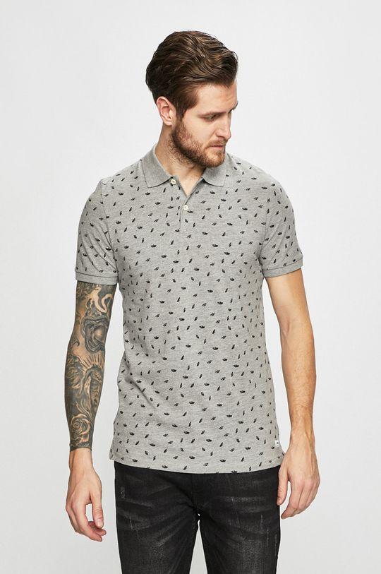 svetlosivá Produkt by Jack & Jones - Pánske polo tričko Pánsky