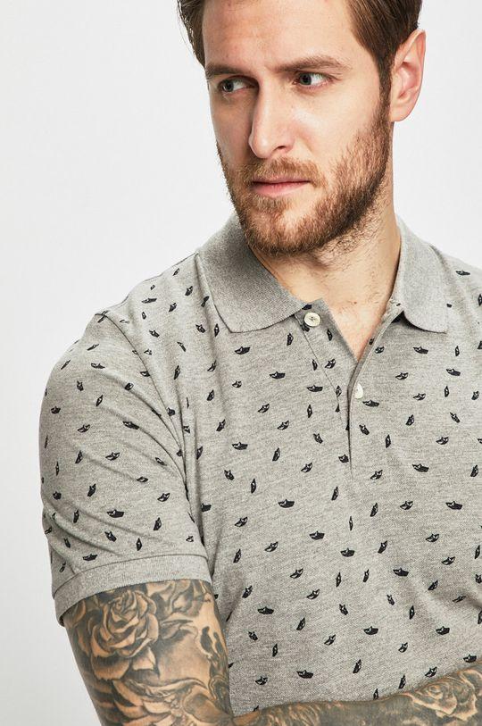 Produkt by Jack & Jones - Pánske polo tričko svetlosivá