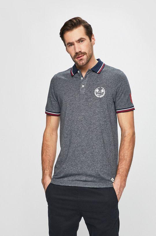 tmavomodrá Produkt by Jack & Jones - Pánske polo tričko Pánsky