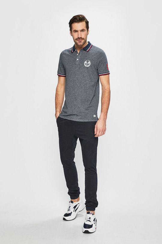 Produkt by Jack & Jones - Pánske polo tričko tmavomodrá