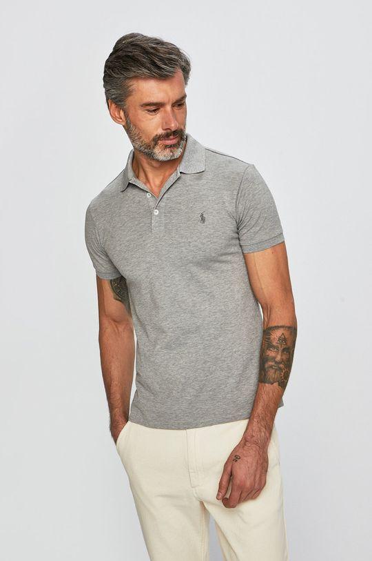 šedá Polo Ralph Lauren - Polo tričko Pánský