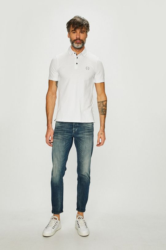 Armani Exchange - Pánske polo tričko biela