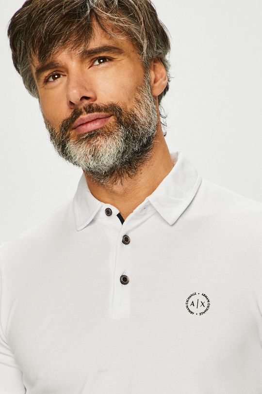 biela Armani Exchange - Pánske polo tričko