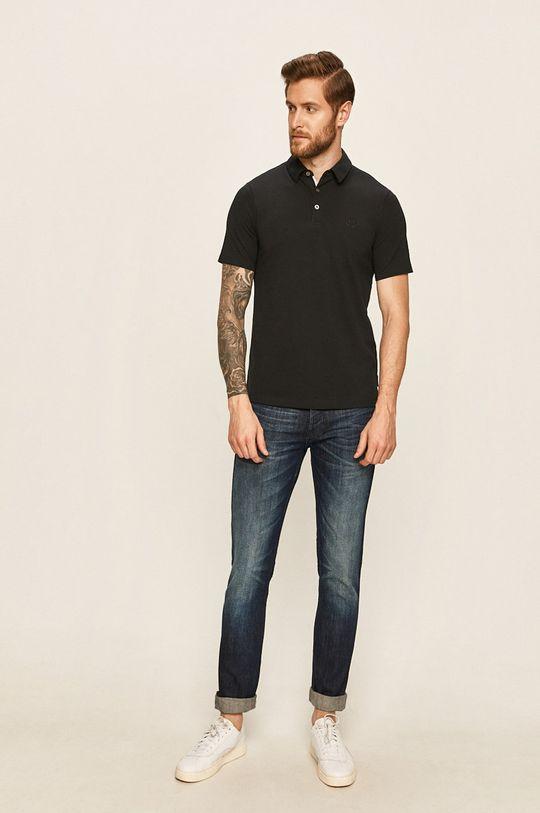 Armani Exchange - Pánske polo tričko tmavomodrá