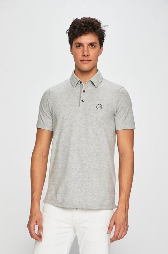 sivá Armani Exchange - Pánske polo tričko Pánsky