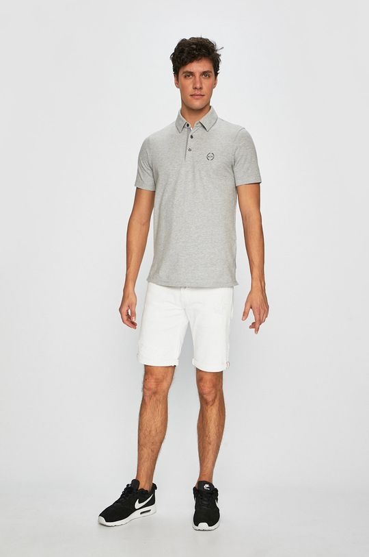 Armani Exchange - Pánske polo tričko sivá