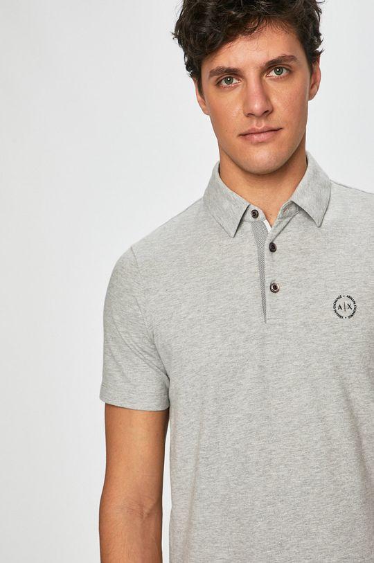 sivá Armani Exchange - Pánske polo tričko