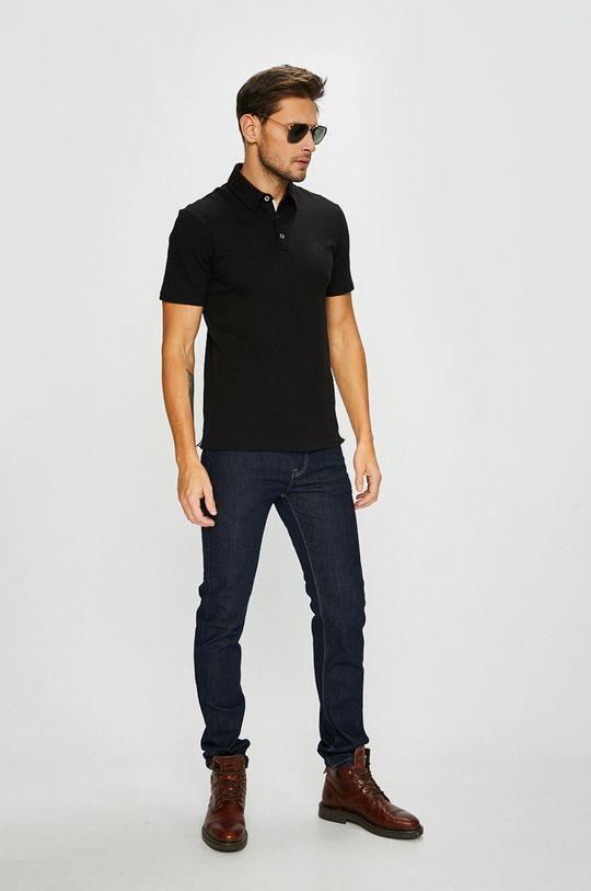 Armani Exchange - Pánske polo tričko čierna