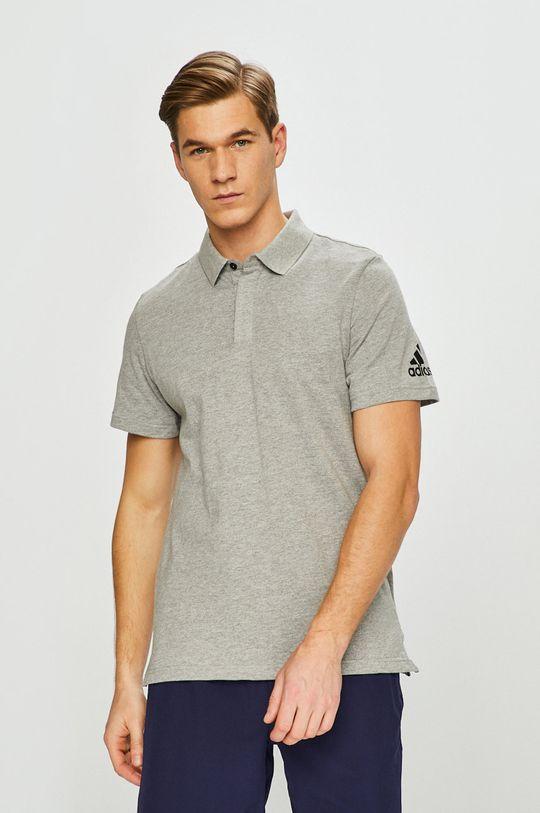 adidas Performance - Polo tričko 87% Bavlna, 13% Polyester