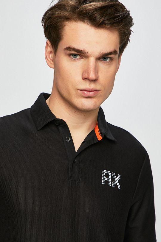 čierna Armani Exchange - Pánske polo tričko Pánsky