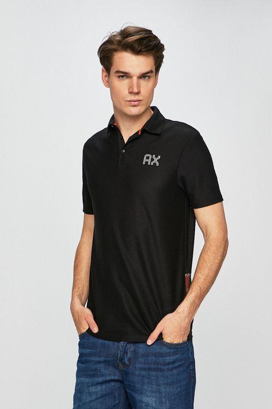 čierna Armani Exchange - Pánske polo tričko