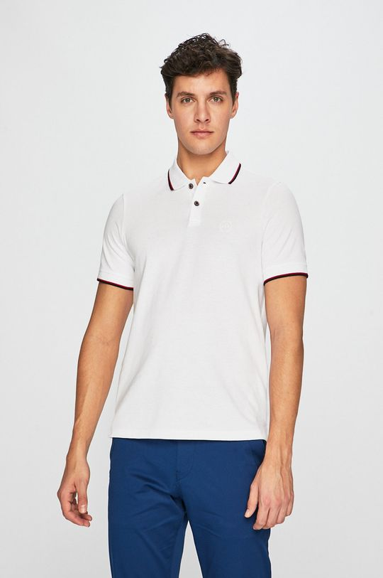 biela Armani Exchange - Pánske polo tričko Pánsky