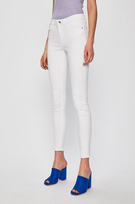 bílá Vero Moda - Džíny Seven Dámský