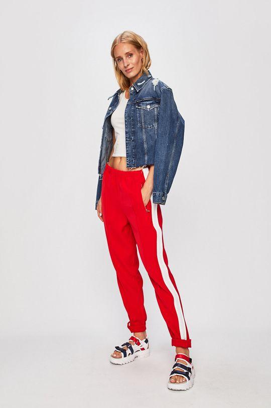 Calvin Klein Jeans - Kalhoty červená