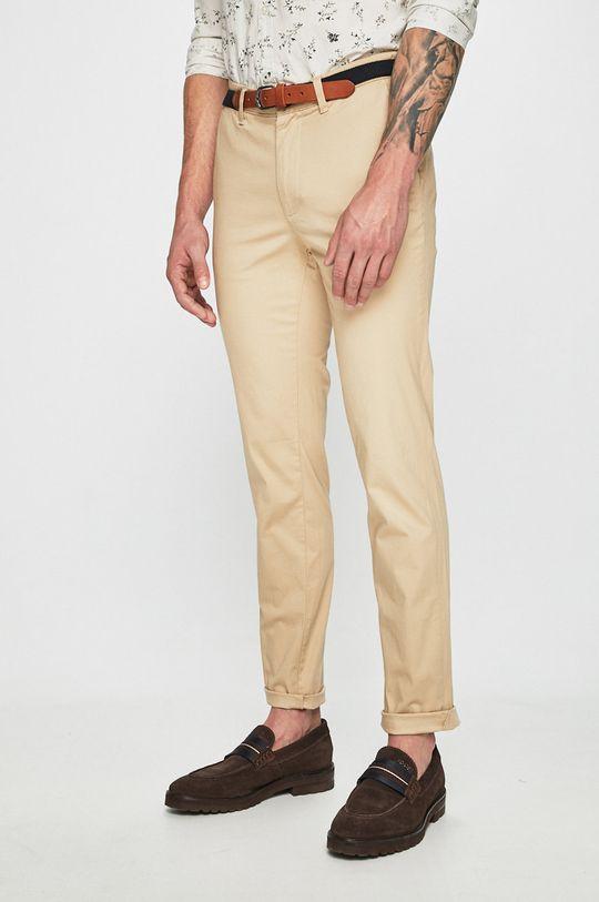 beżowy Selected - Spodnie Męski