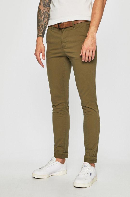 khaki Tom Tailor Denim - Kalhoty Pánský