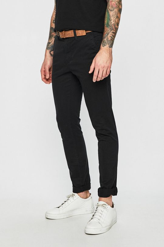 czarny Tom Tailor Denim - Spodnie Męski
