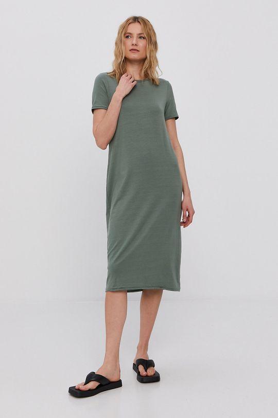 Vero Moda - Šaty hnedozelená