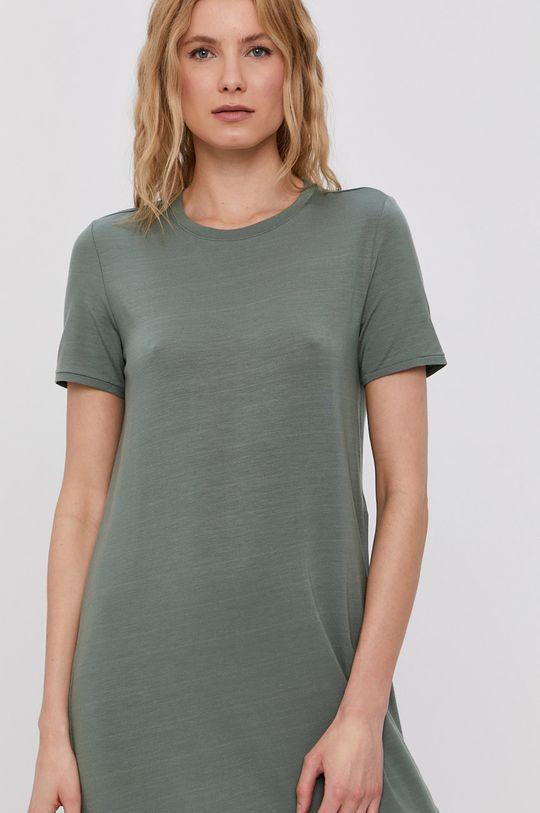 hnedozelená Vero Moda - Šaty