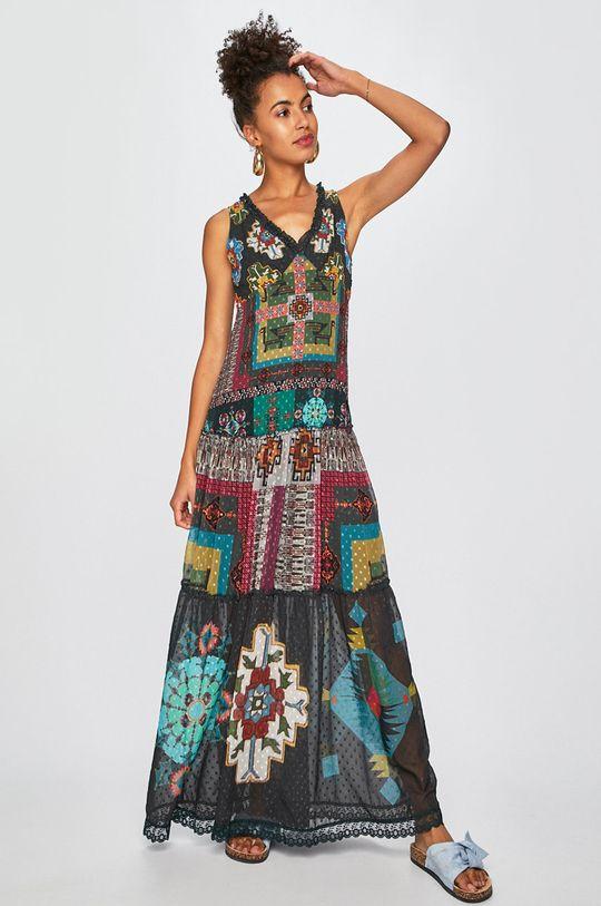 Desigual - Šaty zelená