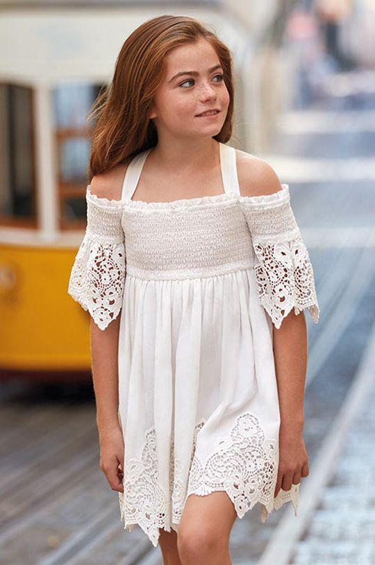 Mayoral - Dívčí šaty 128-167 cm smetanová
