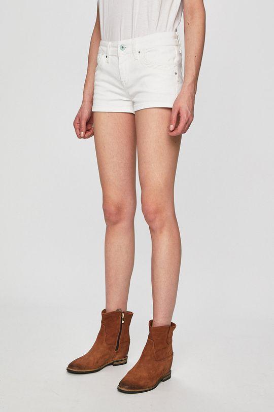 bílá Pepe Jeans - Kraťasy Dámský