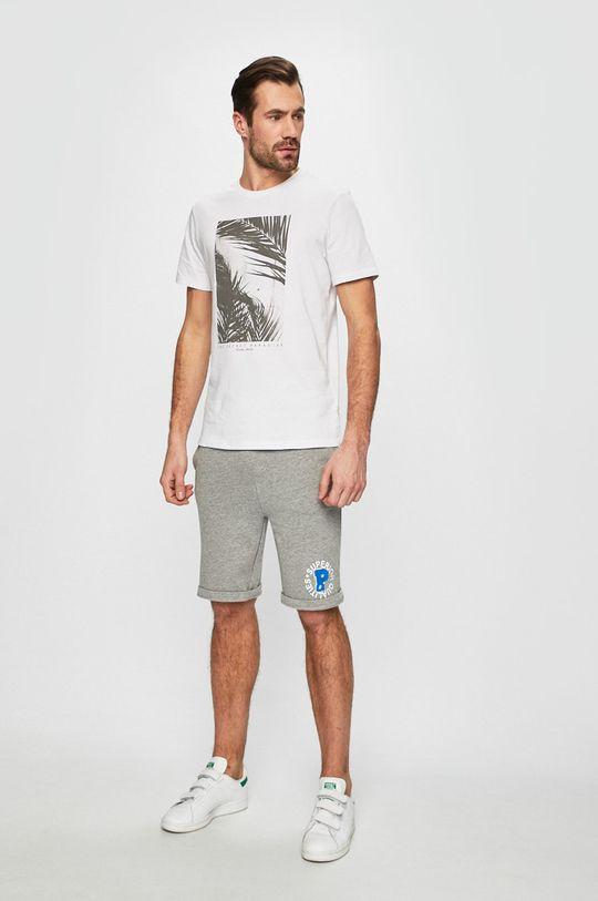 Produkt by Jack & Jones - Pánske šortky svetlosivá
