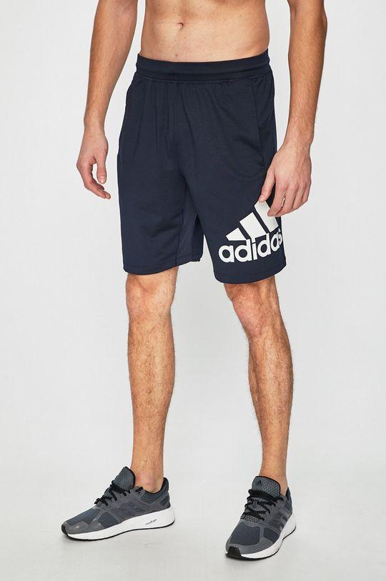 tmavomodrá adidas Performance - Pánske šortky Pánsky