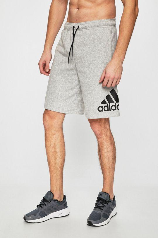 szürke adidas Performance - Rövidnadrág Férfi