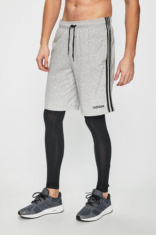 sivá adidas Performance - Pánske šortky Pánsky