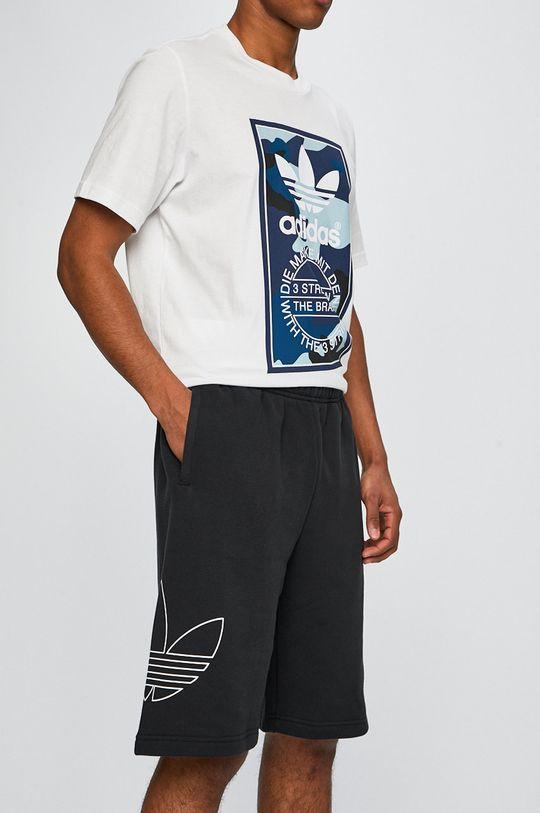 čierna adidas Originals - Pánske šortky Pánsky