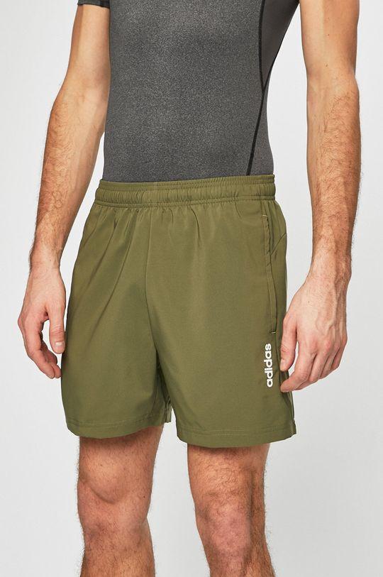 zelená adidas Performance - Pánske šortky Pánsky