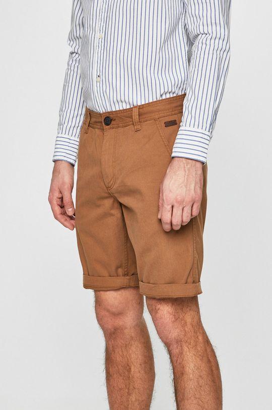hnedá Produkt by Jack & Jones - Pánske šortky Pánsky